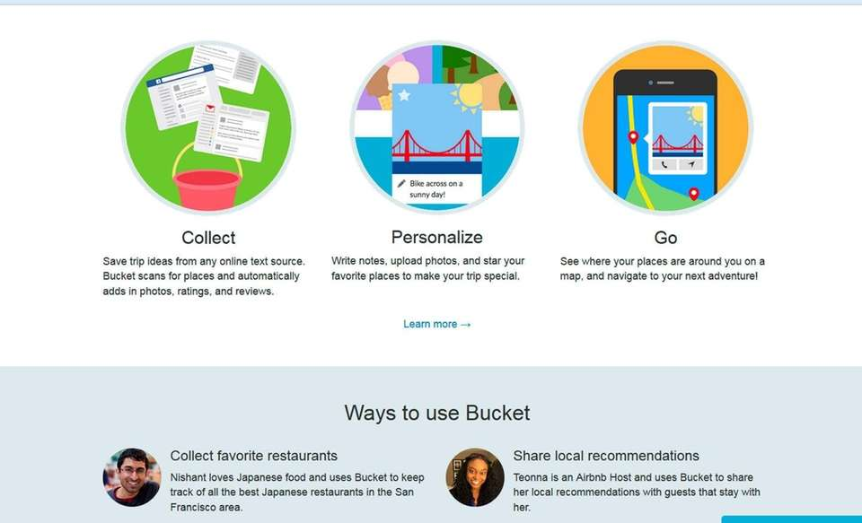 NAME likebucket.com WHAT IT DOES You create a