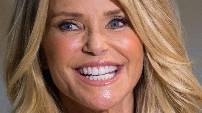 Model Christie Brinkley attends a book signing for