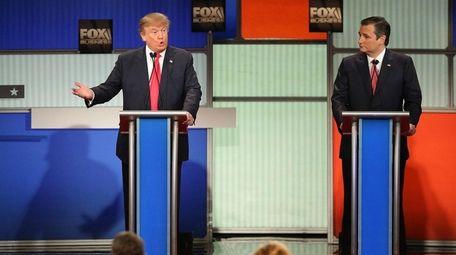 Donald Trump and Ted Cruz traded barbs