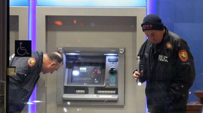 Nassau Police investigate a bank robbery with