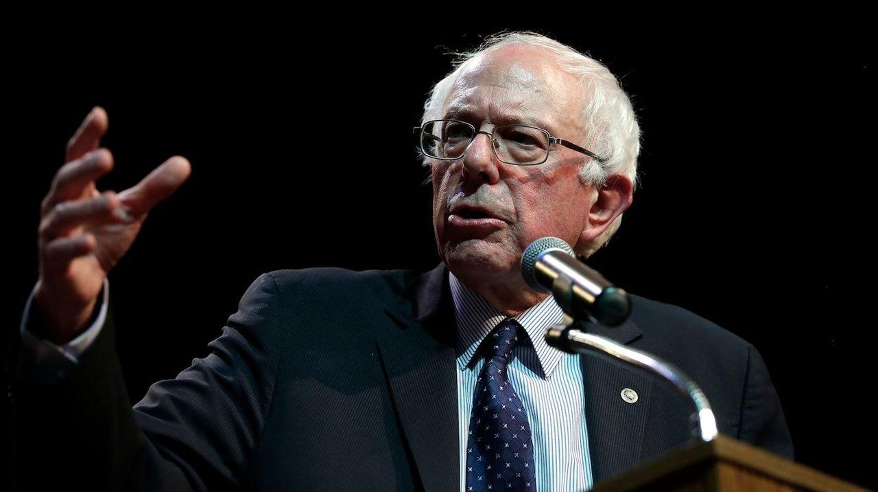 Democratic presidential candidate Sen. Bernie Sanders at a