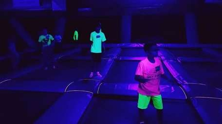 Sky Zone Mt. Sinai recently launched GlowZone from