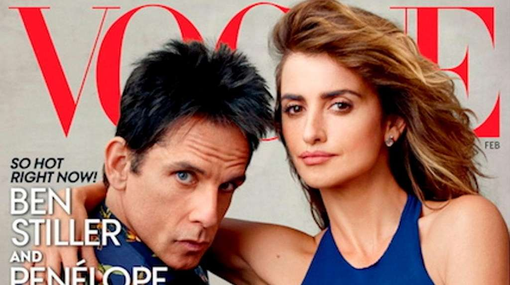 Derek Zoolander's first Vogue cover, alongside co-star Penelope