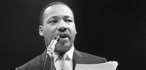 Civil rights leader Martin Luther King Jr. speaks