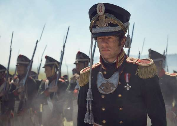 James Norton plays Prince Andrei Bolkonsky in