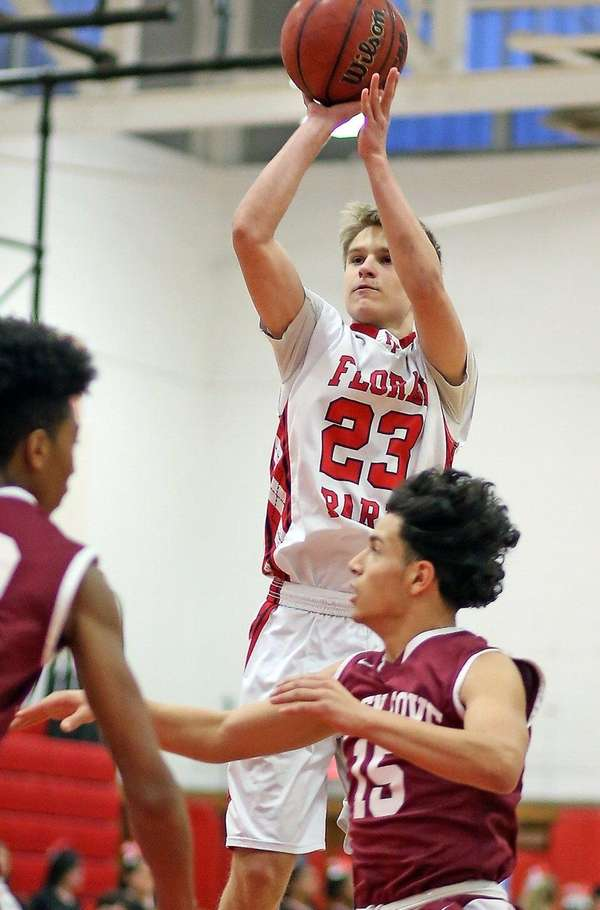 Floral Park's Brian Fox shoots from outside