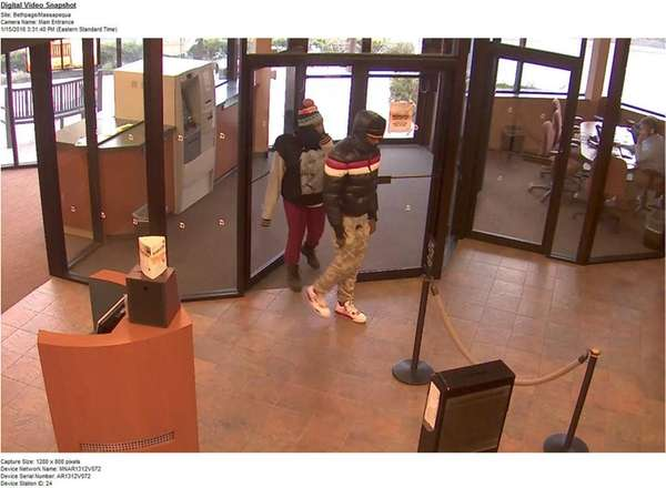 Police say the pair, seen on camera Friday,