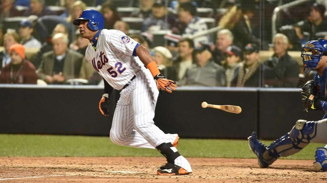 New York Mets center fielder Yoenis Cespedes