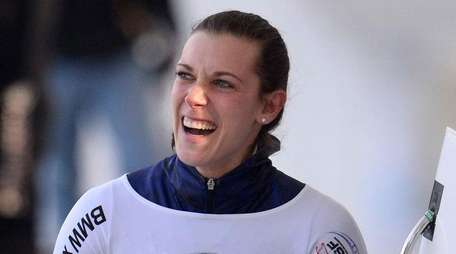 Annie O'Shea after finishing in first place in