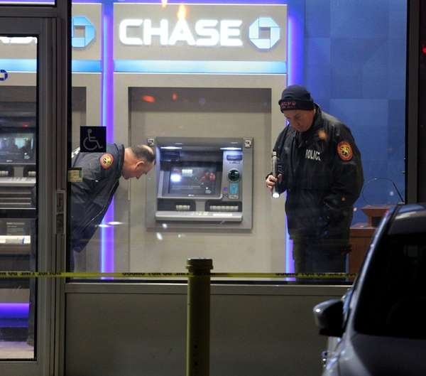 Nassau police investigate an attempted bank robbery Thursday,
