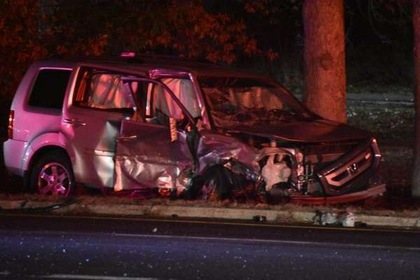 Suffolk County Police detectives are investigating a two-vehicle