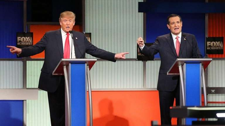 Candidates for the GOP presidential nomination -- Donald