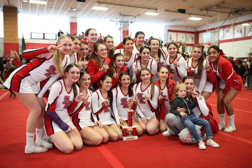 Smithtown East poses for a team photo after