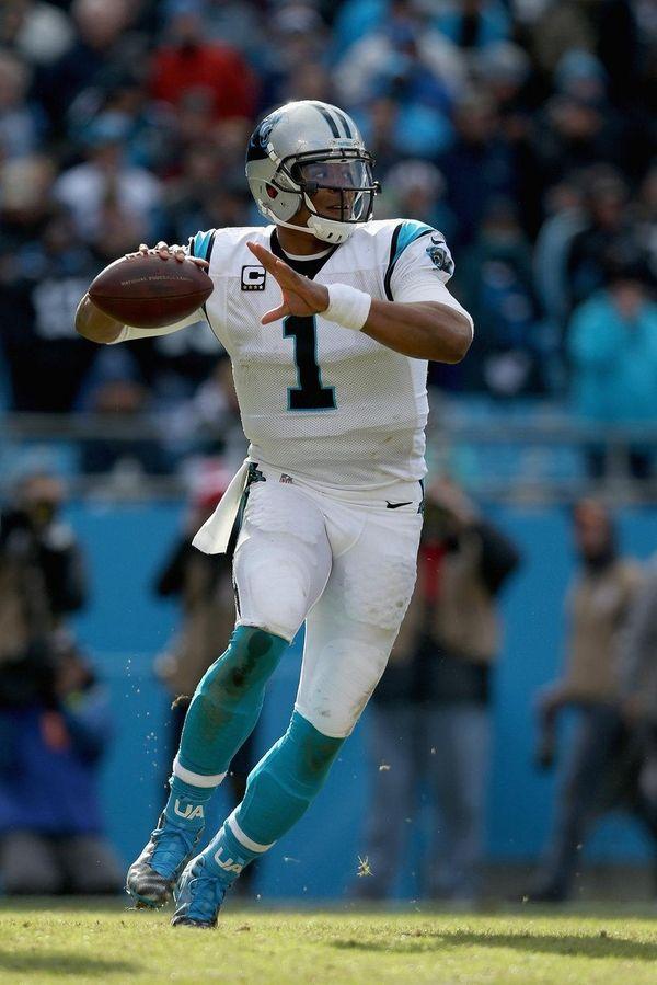 Cam Newton of the Carolina Panthers throws