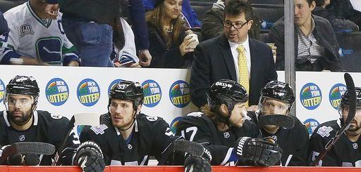 Jack Capuano of the New York Islanders looks