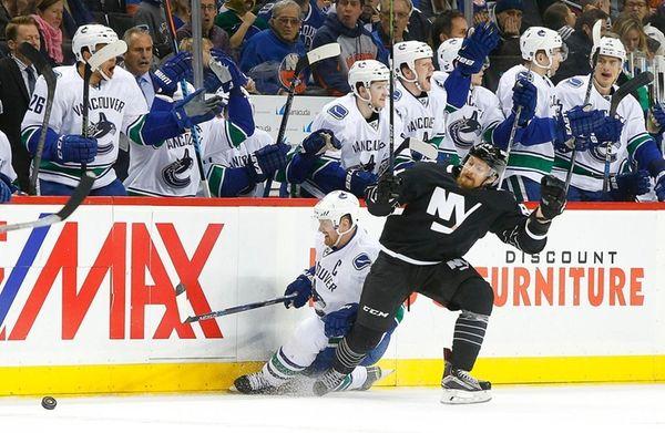 Mikhail Grabovski of the New York Islanders commits