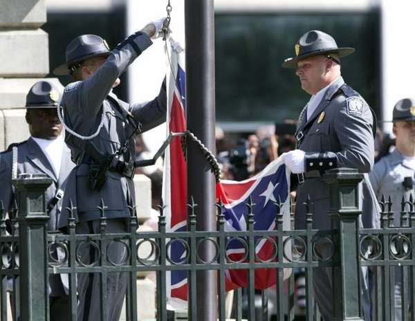 An honor guard from the South Carolina Highway