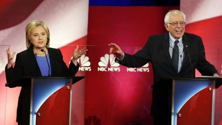 Democratic presidential candidates Hillary Clinton and Sen. Bernie