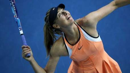 Maria Sharapova of Russia in action against Nao