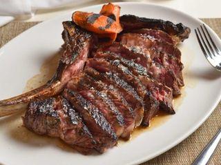 The long-bone rib-eye steak for two at The