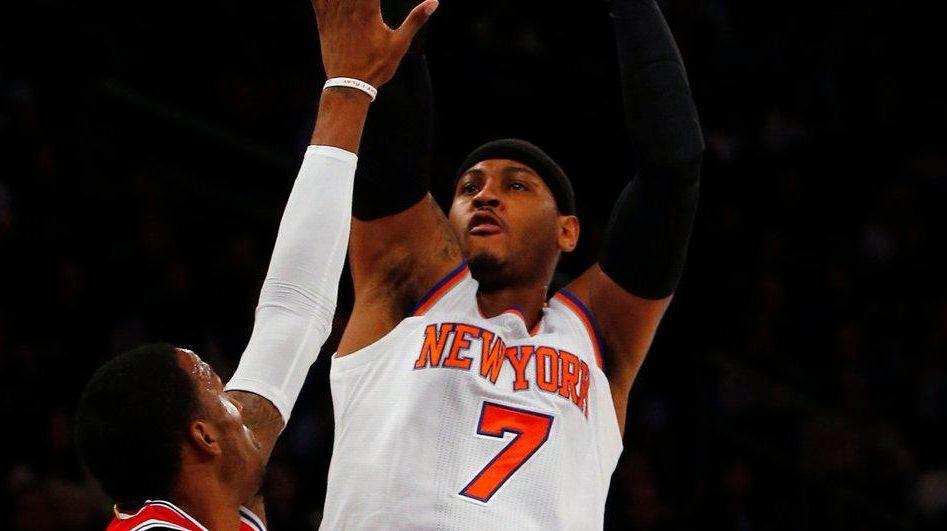 Carmelo Anthony of the New York Knicks