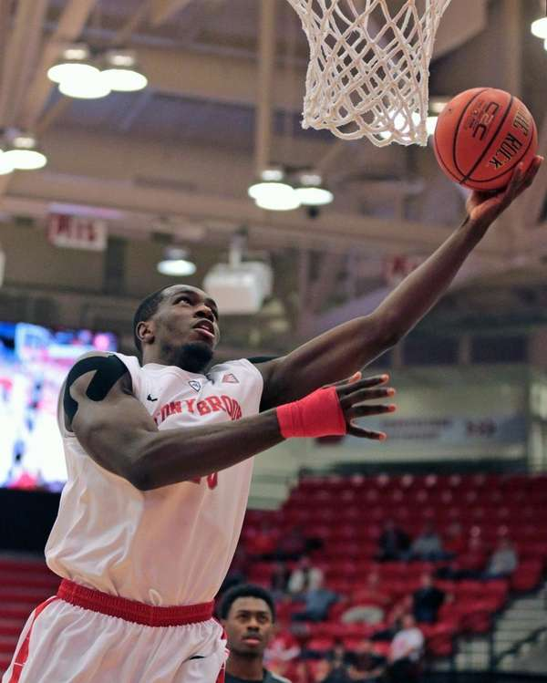 Jameel Warney goes up for a shot in