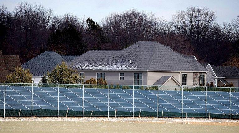 A solar farm on DeLalio Sod Farms property