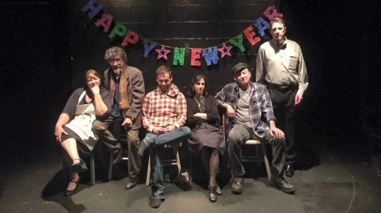 The cast of Long Island playwright Claude Solnik's