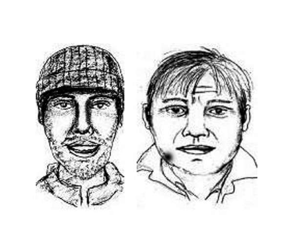 Nassau County police released sketches of two men