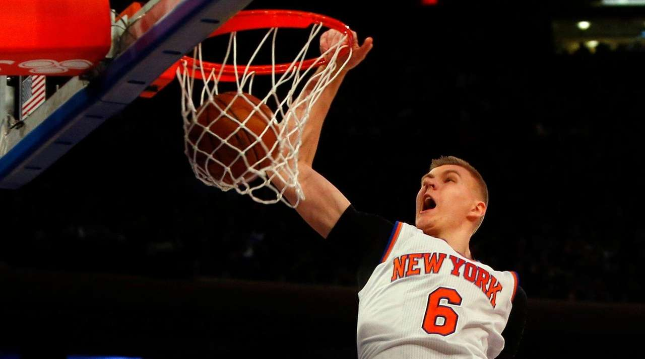 Kristaps Porzingis #6 of the New York
