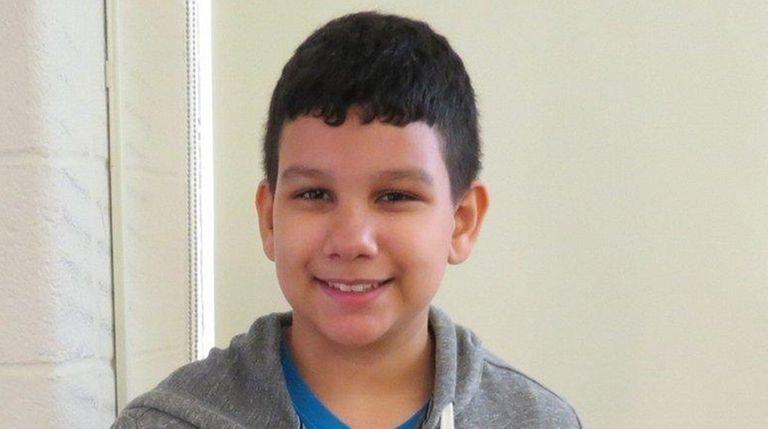 Raiphy Jerez, a ninth-grader at Edmund W. Miles