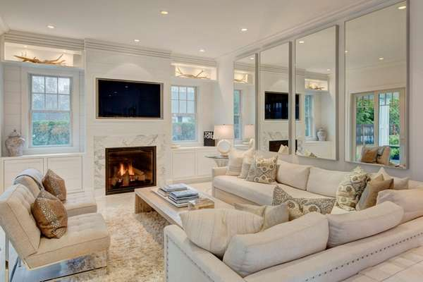 This Southampton living room, designed by Amy Hill,
