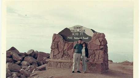Jim Vavrina and his bride, Jean, visited Pikes