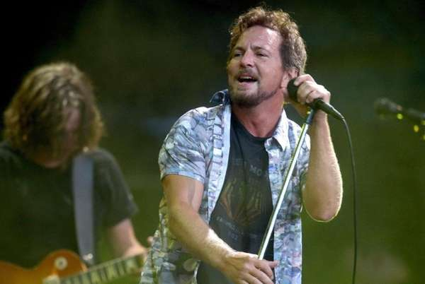 Eddie Vedder of Pearl Jam performing at Western