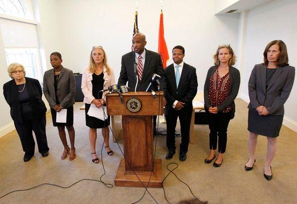 From left, Nassau County Legislators Judi Jacobs, Siela