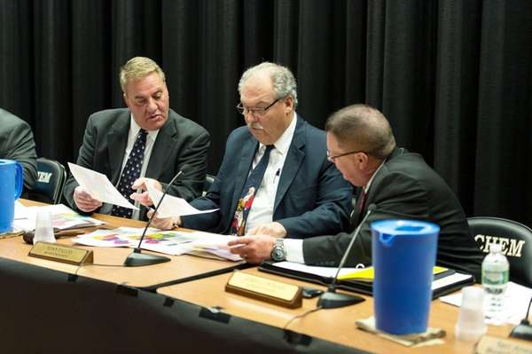 From left, Sachem school board vice president Michael