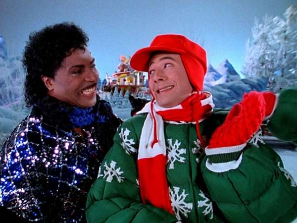 Pee-wee Herman, seen with Little Richard in the
