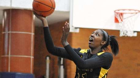 Jayla Jones-Pack of St. Anthony's drives to the
