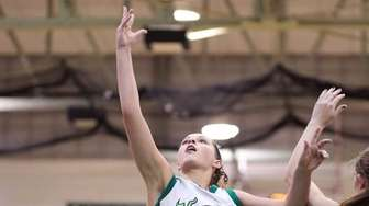 Seaford's Jenna Siler goes for the inside shot
