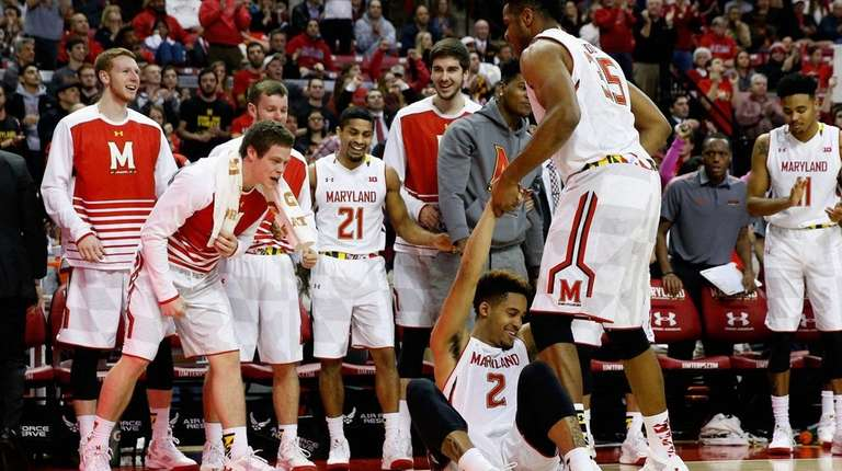 Melo Trimble #2 of the Maryland Terrapins