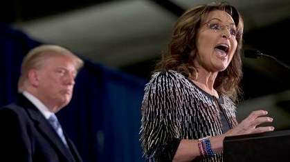 Former Alaska Gov. Sarah Palin, right, endorses Republican