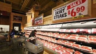 Skirt steaks are on sale on opening day