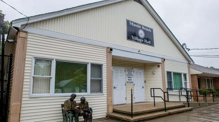 Mastic Beach village hall is seen in this