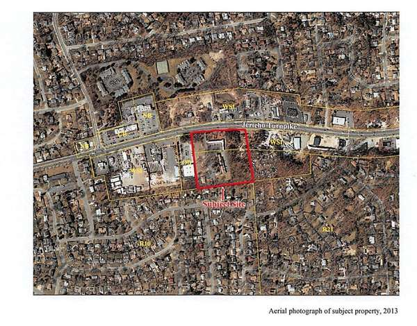 An aerial view of the property approved by