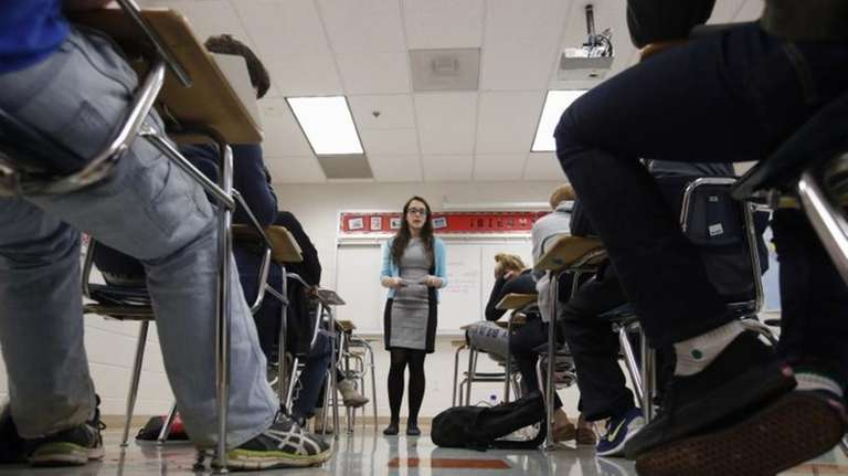 Katerina Maylock, with Capital Educators, teaches a college