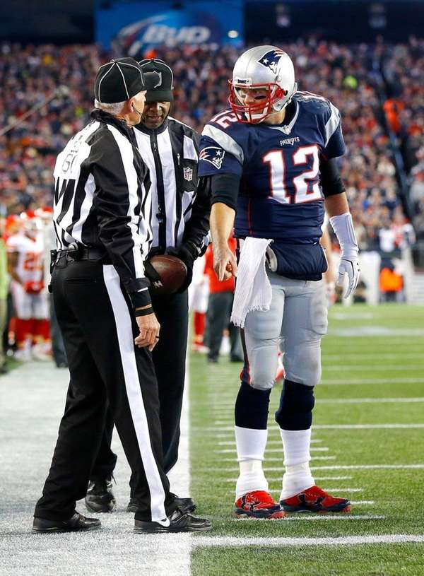 Tom Brady #12 of the New England