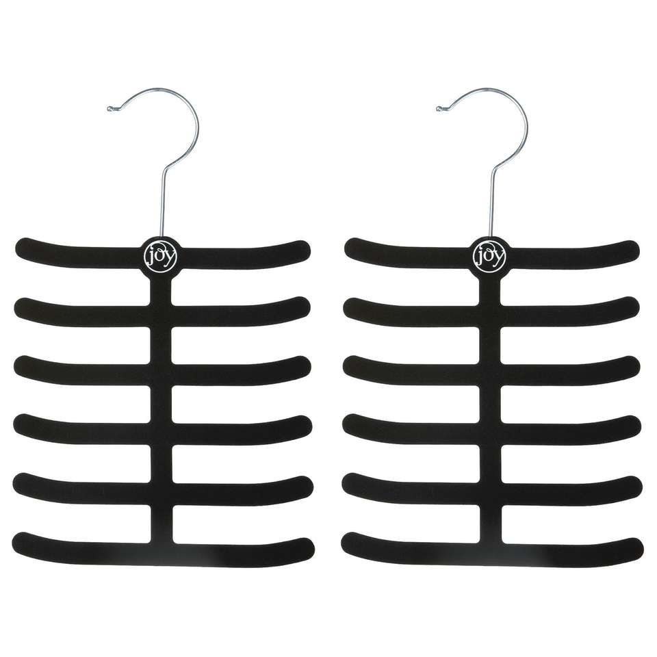 Shown is the Huggable tie and belt hangers.