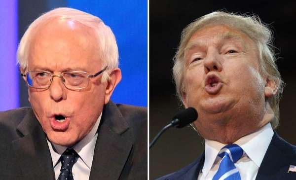 Bernie Sanders and Donald Trump.