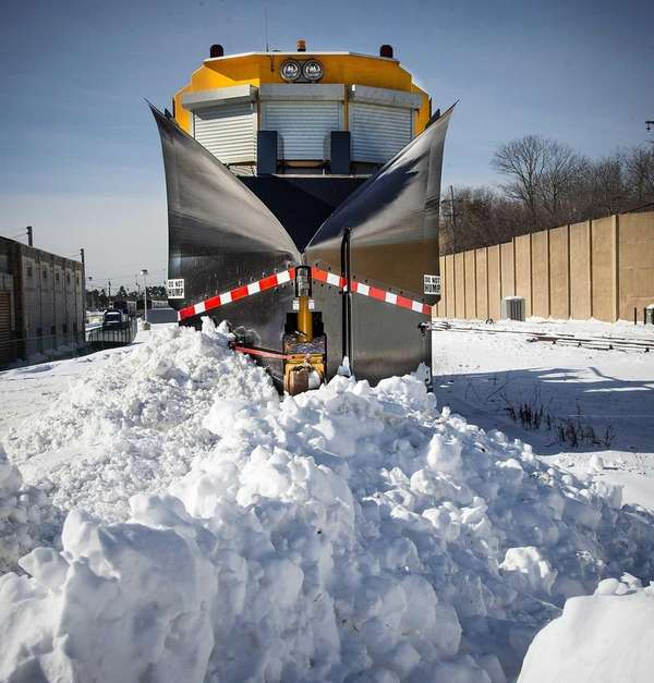 The Long Island Rail Road's 80-ton snow-removal machine,