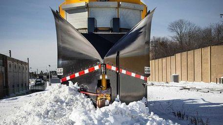 The Long Island Rail Road's 80-ton snow-removal machine,
